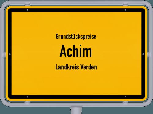 Grundstückspreise Achim (Landkreis Verden) 2021