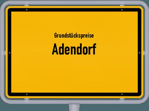 Grundstückspreise Adendorf 2021