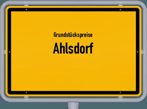 Grundstückspreise Ahlsdorf 2021