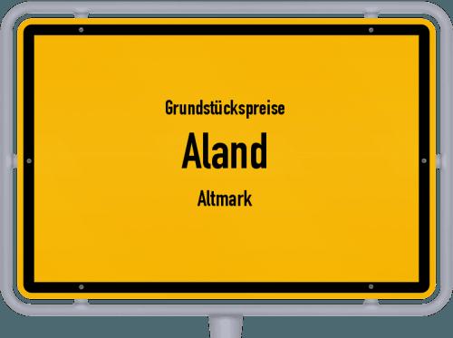 Grundstückspreise Aland (Altmark) 2021