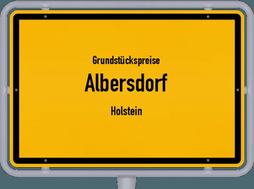 Grundstückspreise Albersdorf (Holstein) 2021