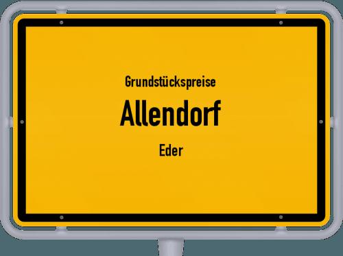 Grundstückspreise Allendorf (Eder) 2019