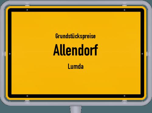 Grundstückspreise Allendorf (Lumda) 2019