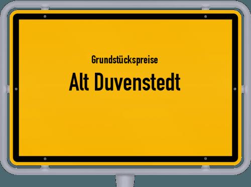 Grundstückspreise Alt Duvenstedt 2021