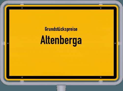 Grundstückspreise Altenberga 2019