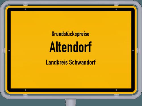 Grundstückspreise Altendorf (Landkreis Schwandorf) 2019