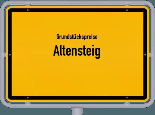 Grundstückspreise Altensteig 2018