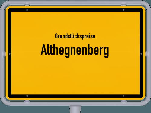 Grundstückspreise Althegnenberg 2019