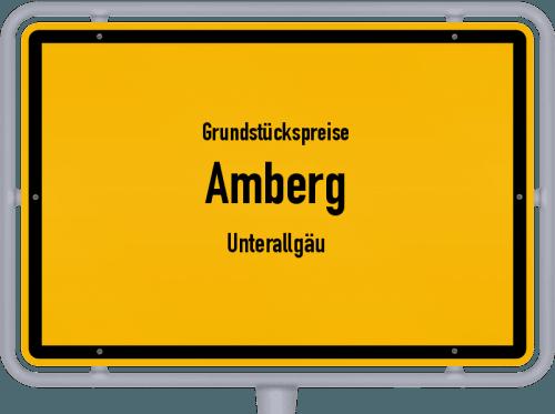 Grundstückspreise Amberg (Unterallgäu) 2019