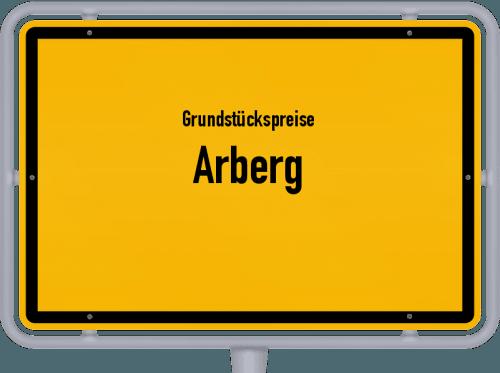Grundstückspreise Arberg 2021