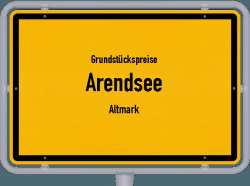Grundstückspreise Arendsee (Altmark) 2021