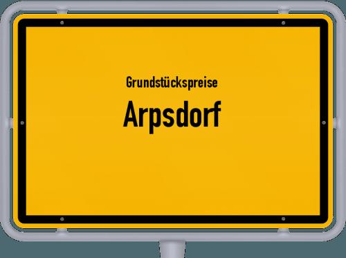Grundstückspreise Arpsdorf 2021