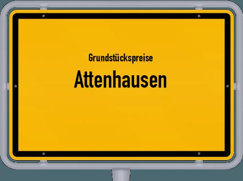 Grundstückspreise Attenhausen 2019