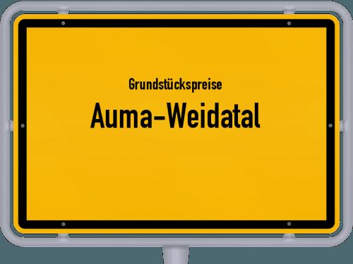 Grundstückspreise Auma-Weidatal 2019