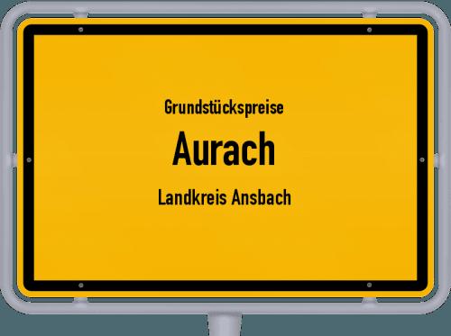 Grundstückspreise Aurach (Landkreis Ansbach) 2019