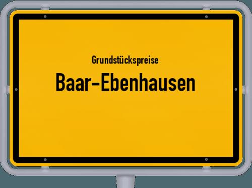 Grundstückspreise Baar-Ebenhausen 2019