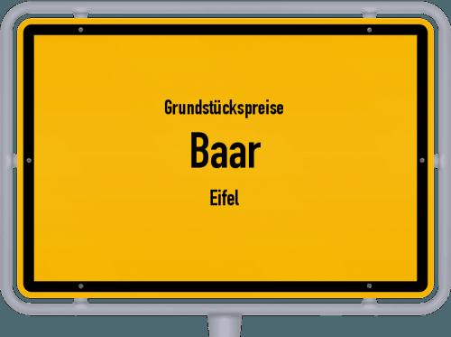 Grundstückspreise Baar (Eifel) 2019