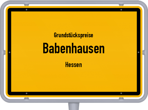 Grundstückspreise Babenhausen (Hessen) 2020