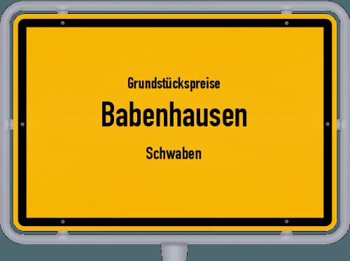 Grundstückspreise Babenhausen (Schwaben) 2019