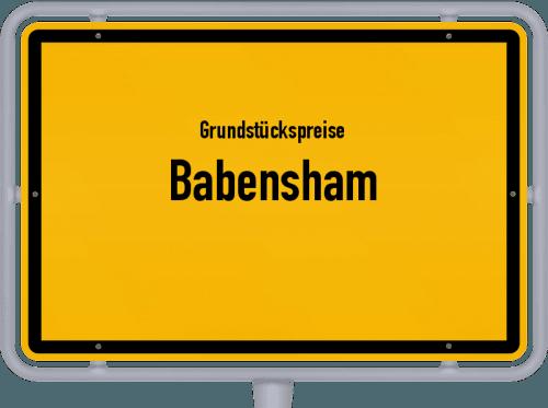 Grundstückspreise Babensham 2021