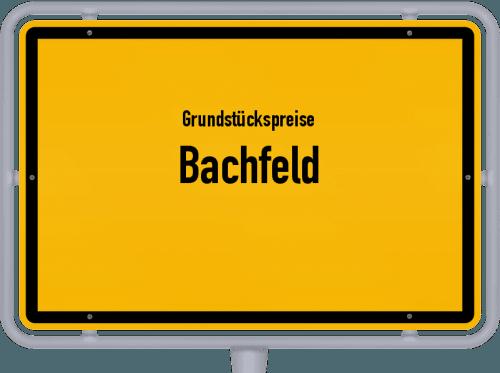 Grundstückspreise Bachfeld 2019