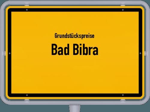 Grundstückspreise Bad Bibra 2021