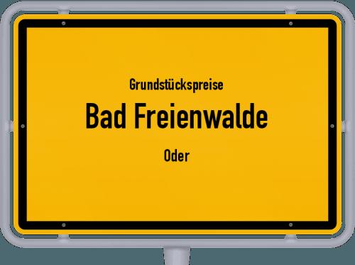 Grundstückspreise Bad Freienwalde (Oder) 2021
