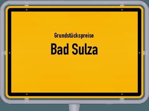 Grundstückspreise Bad Sulza 2019