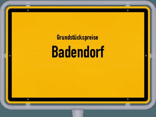 Grundstückspreise Badendorf 2021