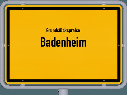 Grundstückspreise Badenheim 2019