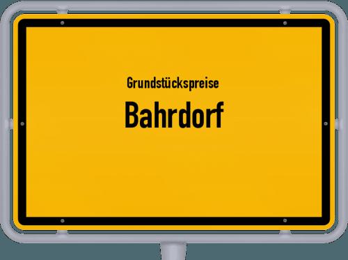 Grundstückspreise Bahrdorf 2021
