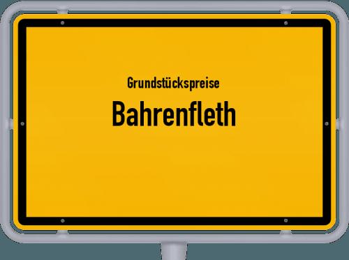 Grundstückspreise Bahrenfleth 2021