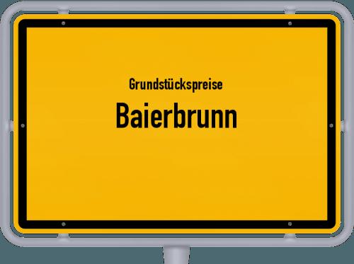 Grundstückspreise Baierbrunn 2019