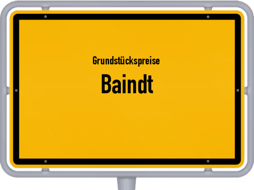 Grundstückspreise Baindt 2021