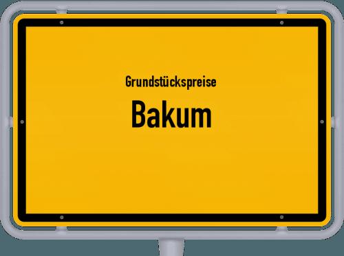 Grundstückspreise Bakum 2019