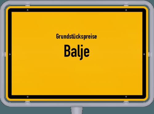 Grundstückspreise Balje 2019