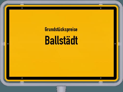 Grundstückspreise Ballstädt 2019
