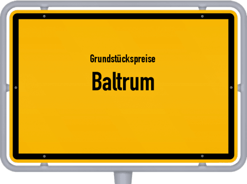 Grundstückspreise Baltrum 2021