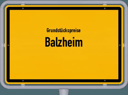 Grundstückspreise Balzheim 2021