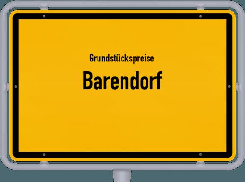 Grundstückspreise Barendorf 2019