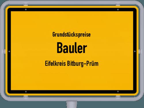Grundstückspreise Bauler (Eifelkreis Bitburg-Prüm) 2019