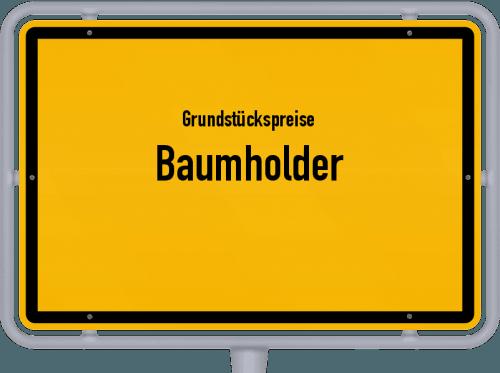 Grundstückspreise Baumholder 2019
