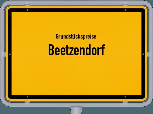 Grundstückspreise Beetzendorf 2021