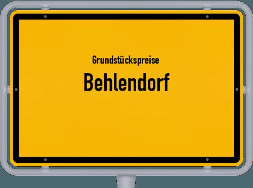 Grundstückspreise Behlendorf 2021