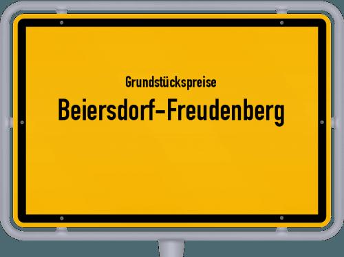 Grundstückspreise Beiersdorf-Freudenberg 2021