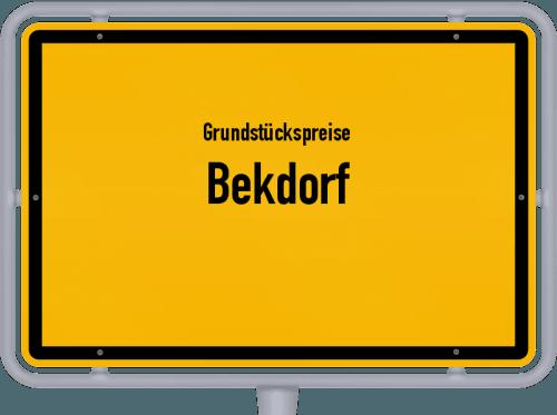 Grundstückspreise Bekdorf 2021