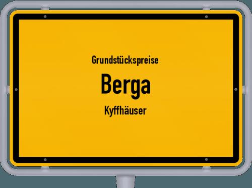 Grundstückspreise Berga (Kyffhäuser) 2021
