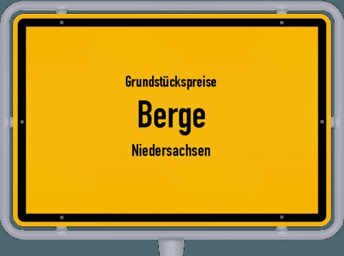 Grundstückspreise Berge (Niedersachsen) 2021