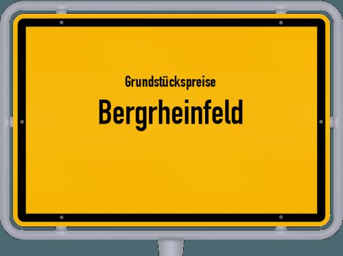 Grundstückspreise Bergrheinfeld 2019