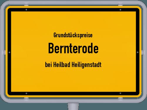 Grundstückspreise Bernterode (bei Heilbad Heiligenstadt) 2019